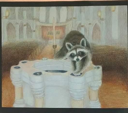 Baptismal Raccoon