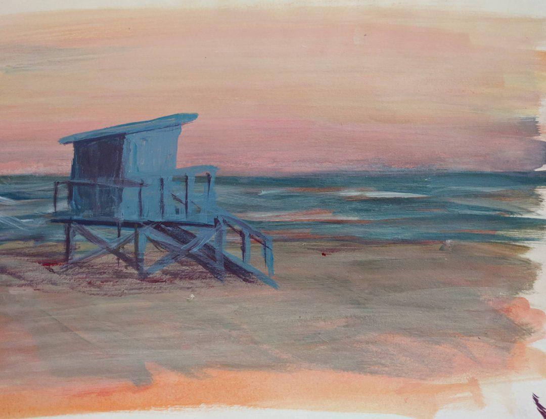 Lifeguard Tower Paint Sketch
