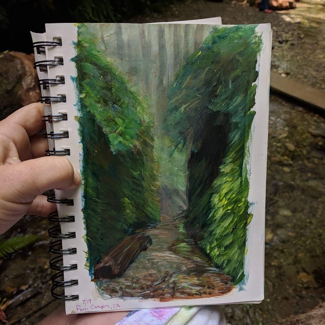 Fern Canyon Paint Study