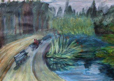 Laurelhurst Park Paint Sketch