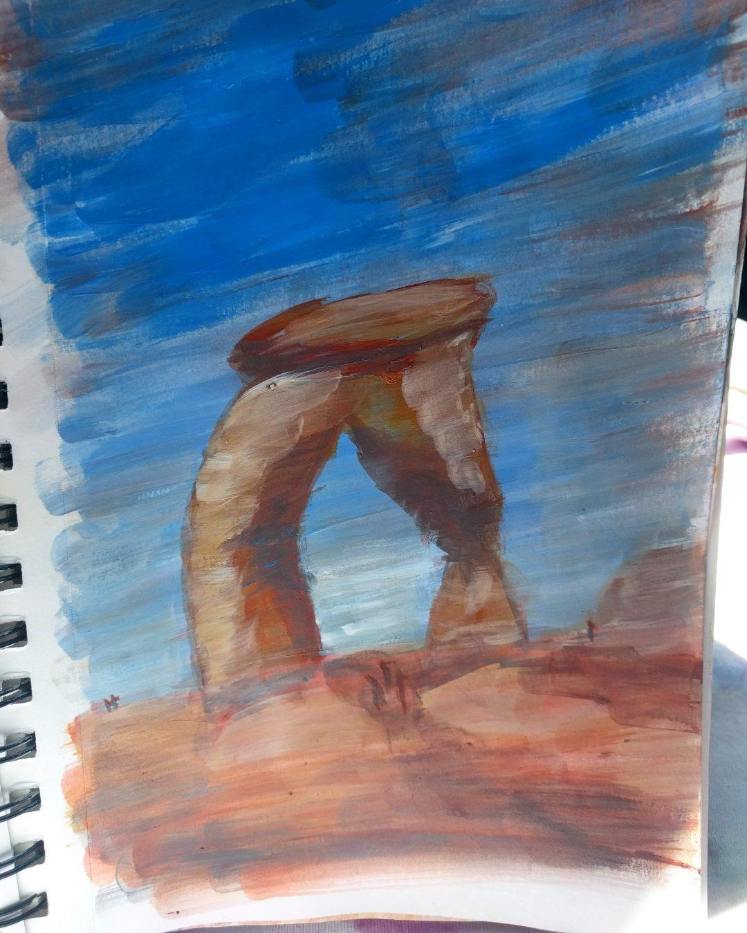 Delicate Arch Paint Study
