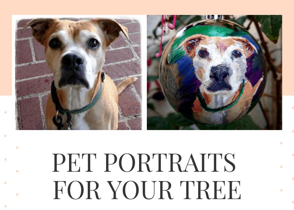 Pet Portrait Holiday Ornaments