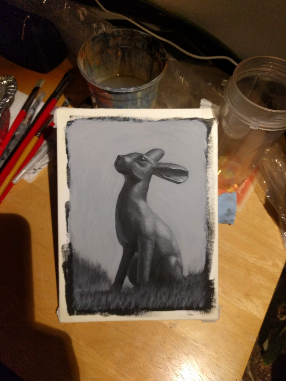 Bronze rabbit