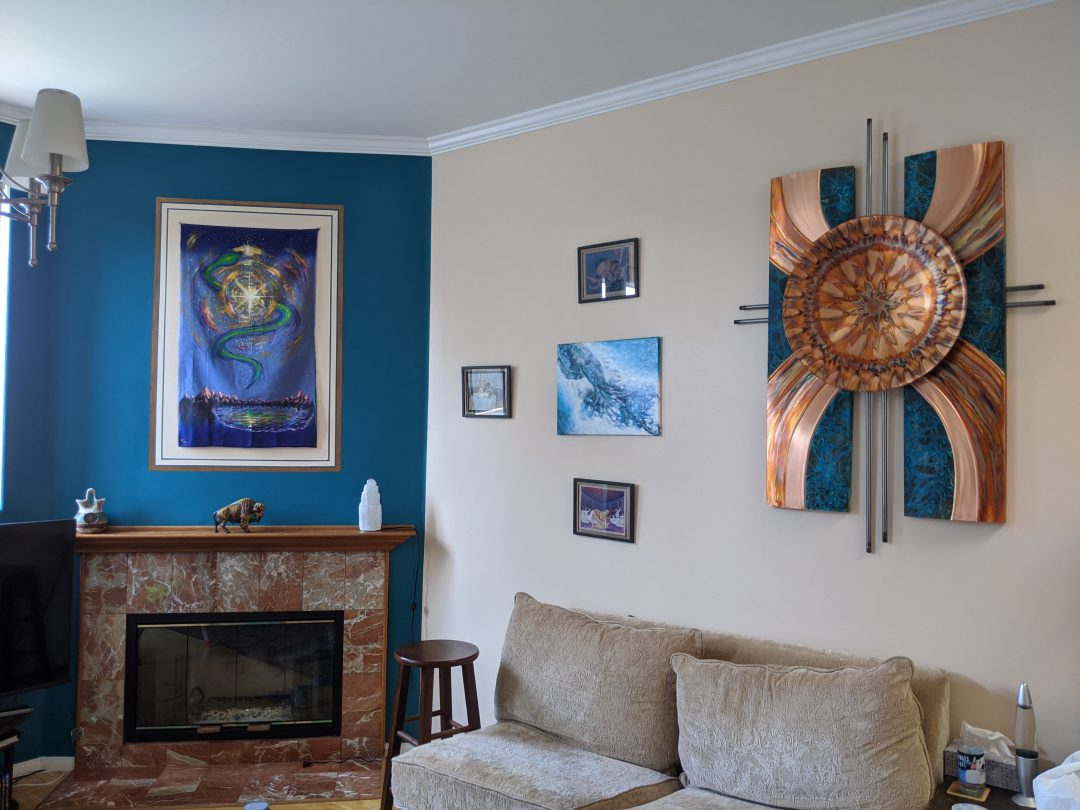 Room-Coordinating Accent Wall with Faux Frame